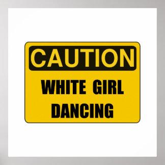 Caution Girl Dance Poster