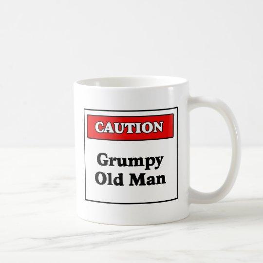 Caution Grumpy Old Man Coffee Mug