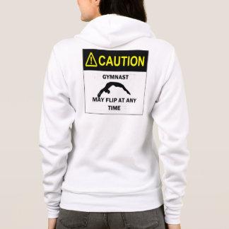 Caution Gymnast Hoodie