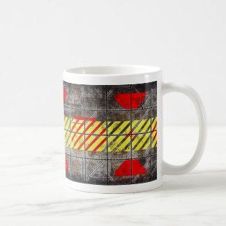 Caution, Hot Drinks Vessel Basic White Mug