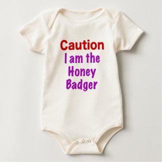 Caution I am the Honey Badger Baby Bodysuit