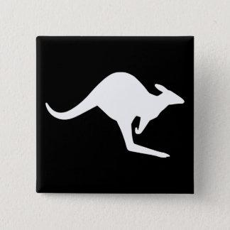 Caution Kangaroo 15 Cm Square Badge