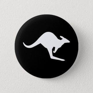 Caution Kangaroo 6 Cm Round Badge
