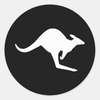 Caution Kangaroo Classic Round Sticker