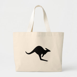 Caution Kangaroo Large Tote Bag
