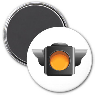 Caution Light for Classroom Management / Whatever! 7.5 Cm Round Magnet