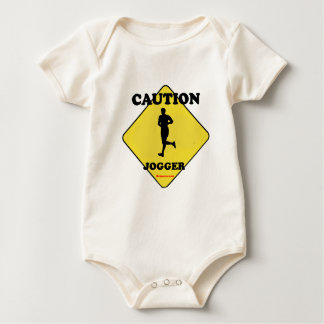 Caution Male Jogger Rompers