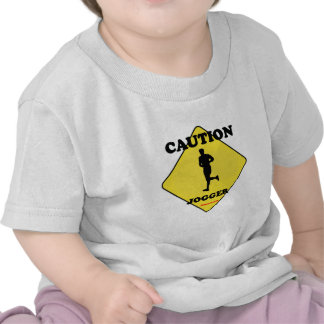 Caution Male Jogger T Shirts