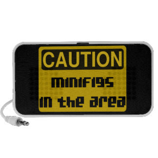 CAUTION MINIFIGS IN THE AREA by Chillee Wilson Mini Speakers