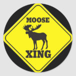 Caution- Moose Crossing