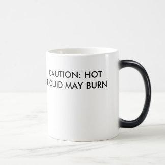 CAUTION morphing mug