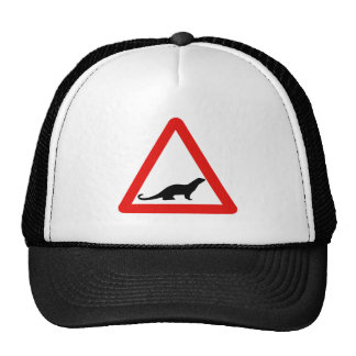 Caution Otters (1), Traffic Sign, UK Cap