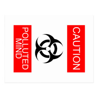 CAUTION POLLUTED MIND POST CARDS