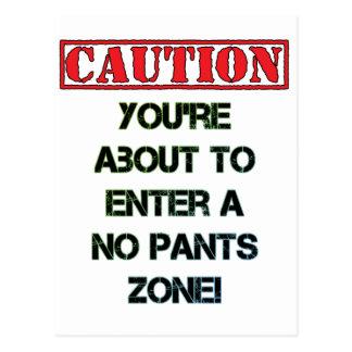 Caution! Postcard