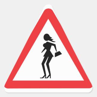 Caution Prostitute (Attenzione Prostitute) Triangle Sticker