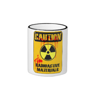 Caution Radioactive Material Ringer Mug