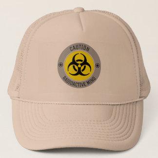 CAUTION RADIOACTIVE MIND TRUCKER HAT