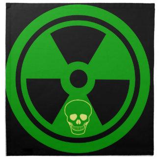 Caution Radioactive Sign With Skull Napkin