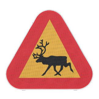 Caution Reindeer Swedish Traffic Sign Bluetooth Speaker