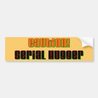 Caution Serial Hugger Bumper Sticker