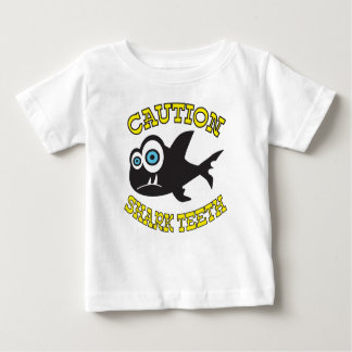 Caution! Shark Teeth!  Baby Fine Jersey T-Shirt