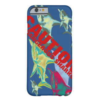 caution: sharks barely there iPhone 6 case