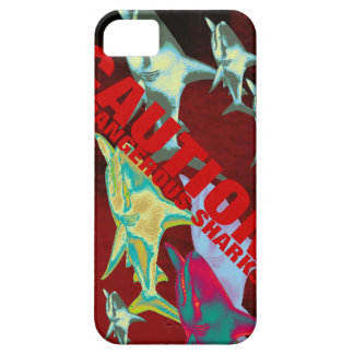 caution - sharks danger iPhone 5 covers