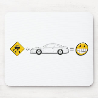 Caution Sign, Drift Silvia S14 is fun Mousepads