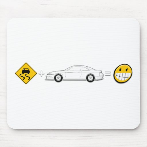 Caution Sign, Drift Silvia S14 is fun Mousepads