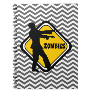 Caution Sign for Zombies Notebooks
