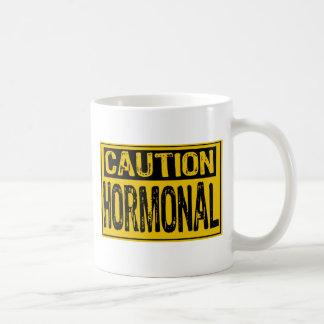 Caution Sign - Hormonal Yellow/Black Mug