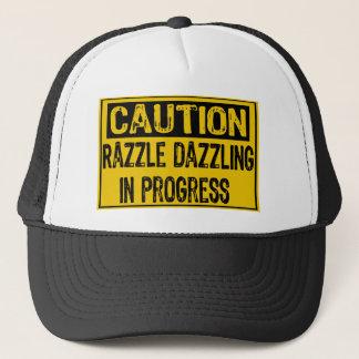 Caution Sign-Razzle Dazzle Them In Progress-Bk/Yl Trucker Hat