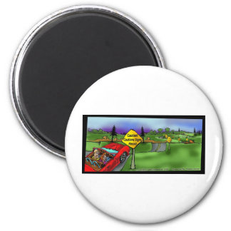 Caution Signs Funny Gifts Tees & Collectibles 6 Cm Round Magnet
