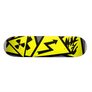 Caution Signs Skate Board Deck