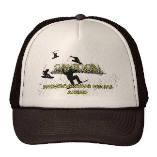 Caution: Snowboarding Ninjas Mesh Hat