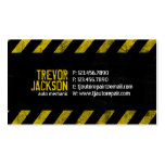 Caution Stripes - Yellow Pack Of Standard Business Cards