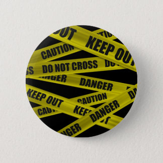Caution Tape Button