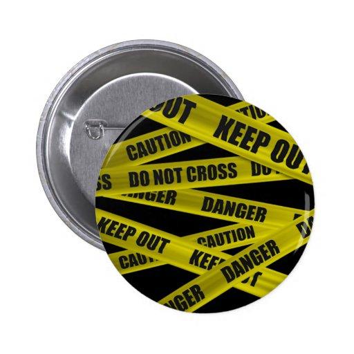 Caution Tape Button