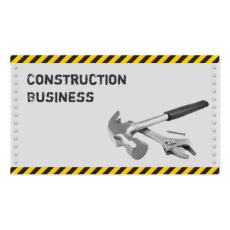 Caution Tape Hand Tools Construction Business Card