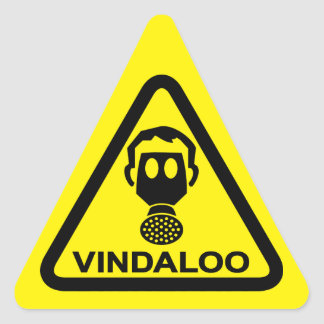 Caution Vindaloo Toxic Curry Smells Funny Stickers