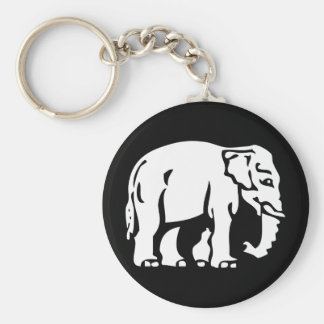 Caution White Elephant Crossing ⚠ Thai Road Sign Key Ring