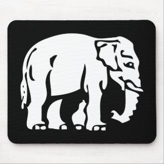 Caution White Elephant ⚠ Thai Road Sign ⚠ Mouse Mat