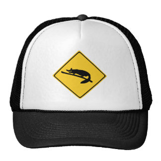 Caution With Possums 1, Traffic Warning Sign, AU Hat