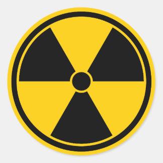 Caution Yellow Radiation Symbol Sticker