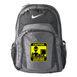 Caution! You are being monitored Backpack