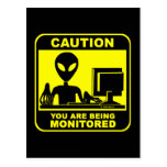 Caution! you are being monitored post cards