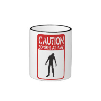 Caution zombies at play mugs