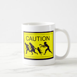 Caution Zombies Coffee Mug