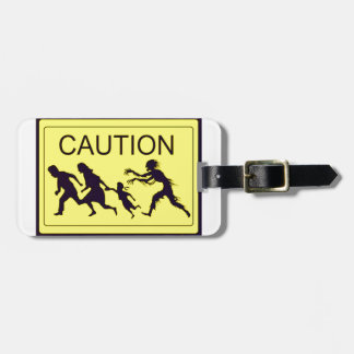 Caution Zombies Luggage Tag