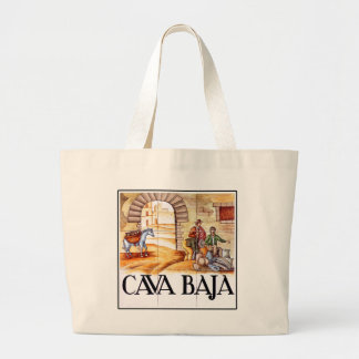 Cava Baja, Madrid Street Sign Jumbo Tote Bag